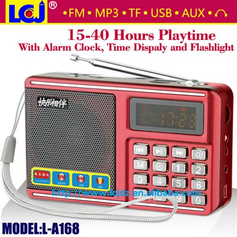 l radio alarm clock l a168 led alarm clock radio with sd usb card slot eaphone