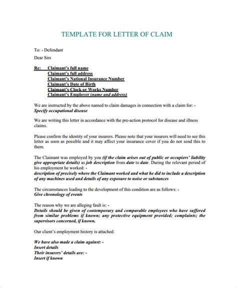 insurance letter   cover template