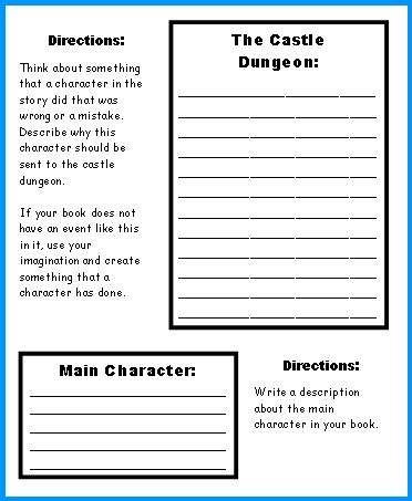 extra large castle book report project templates