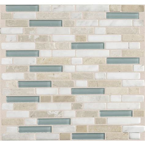 Home Depot Wall Tile Kitchen by Daltile Radiance Whisper Green 11 3 4 In X 12 1 2