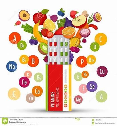 Blister Flat Pack Pills Vitamins Supplements Fruit