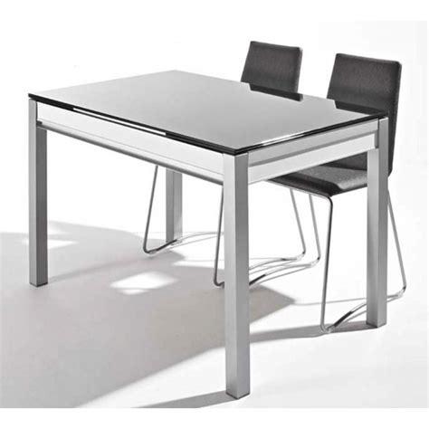 table cuisine en verre table en verre avec tiroir et allonges dama