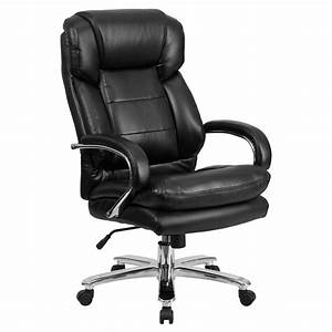 Black, Leathersoft, Swivel, Executive, Desk, Chair, With, Wheels