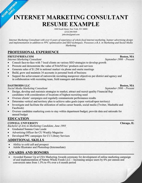 Executive Marketing Consultant Resume by Sle Executive Of Marketing Resume Images Frompo
