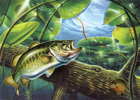 fooled again bass ii painting by jq licensing