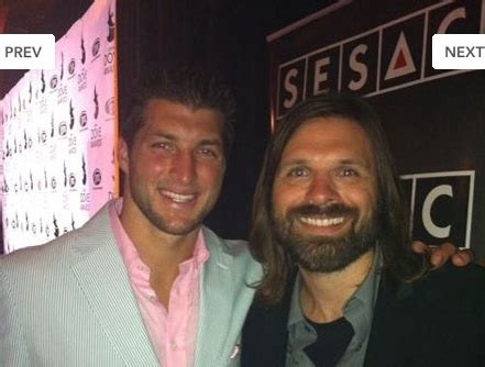 Two awesome dudes. Tim Tebow & Mac Powell from Third Day ...