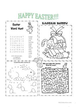 esl easter worksheets