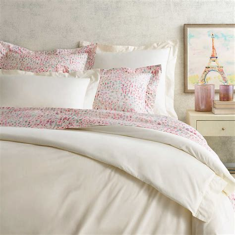 Ivory Duvet Cover by Classic Hemstitch Ivory Duvet Cover Pine Cone Hill