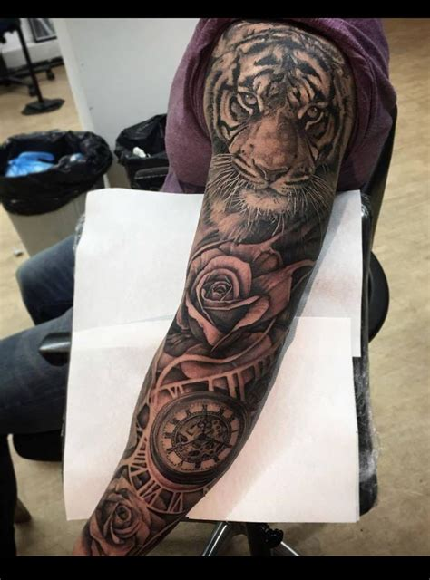 beautiful tiger tattoo sleeve ideas  pinterest