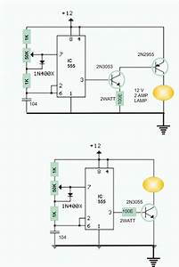Electronics Projects  12 Volt Lamp Dimmer Circuit Using 555 Ic