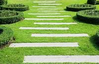 landscape stepping stones Garden Path Ideas | Mulch | Gravel | Wooden | Crazy Paving