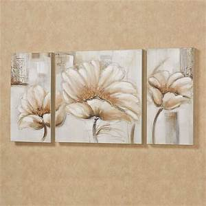 Blooming splendor floral triptych canvas art set