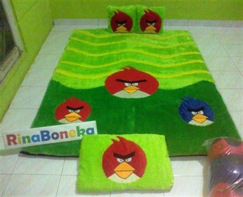 Karpet Karakter Tebal 8 Cm karpet karakter angry bird 150x200cm karpet karakter dan