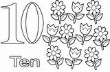 Coloring Number Pages Numbers Ten Printable Learning Colouring Drawing Simple Sheets Count Draw Getcolorings Flower Handwriting Write Getdrawings Picolour Printables sketch template