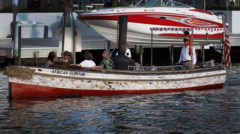 Boat Movies by African Queen Boat From Humphrey Bogart Movie Restored