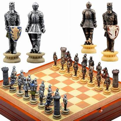 Chess Pieces Medieval Board Knight Knights Piece