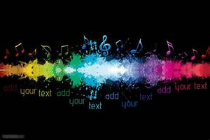 Music Notes Sound Wave Rainbow Colorful Event Band Bar Flyer Poster Decor Template PosterMyWall