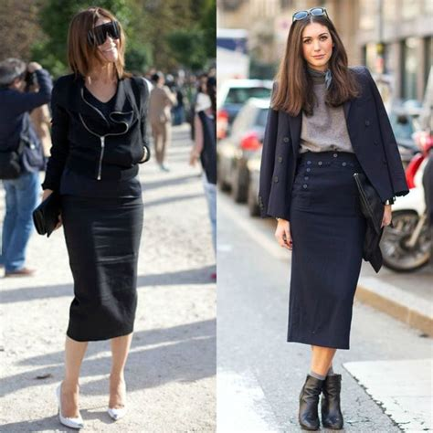 55 Amazing Outfits With Black Pencil Skirts | Style u0026 Tips - GlossyU.com
