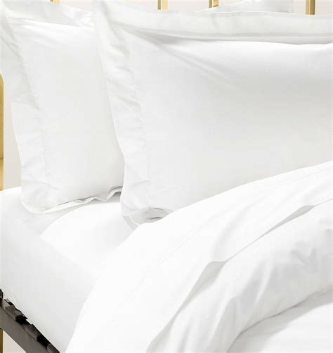 cotton percale king size fitted sheet white ebay