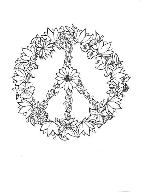 29 best Peace coloring images on Pinterest | Coloring pages, Coloring books and Crayon art