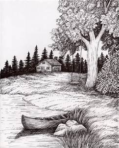 Pen and Ink Wash Landscape | pen-and-ink-landscape ...