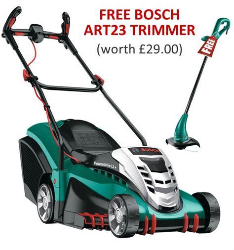 bosch rotak 43 li 2 ergoflex cordless lawn mower 2 batteries charger