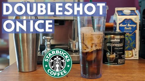 Coffee machine settings and coffee grinder settings need to be adjusted to a new recipe when using a double filter basket to brew double ristretto or double lungo shots in order to achieve a successful extraction. BETTER THAN STARBUCKS Double Shot On Ice At Home - YouTube