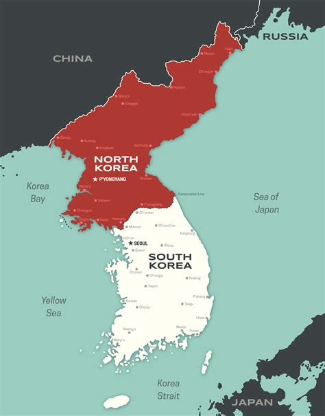 north  south korea divided history