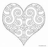 Coloring Heart Pages Printable Cool2bkids Hearts Valentines Simple Rocks sketch template