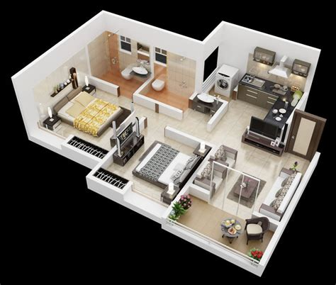 25 More 2 Bedroom 3d Floor Plans by House Designs Philippines Nabelea