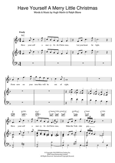 Sam Smith  Have Yourself A Merry Little Christmas Sheet Music