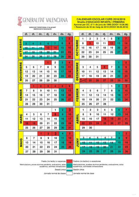 calendario escolar curso ajuntament de sant