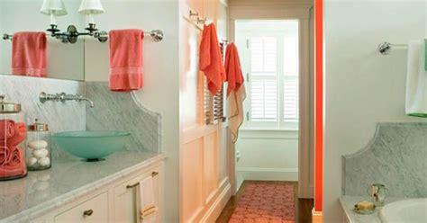 bathroom design bath accessories sea foam  coral color