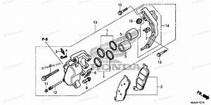 Honda Motorcycle 2013 Oem Parts Diagram For Front Brake Caliper  1