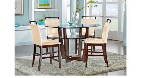 espresso dining room set ciara espresso brown 5 pc counter height dining set