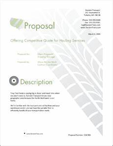 transportation shipping services sample proposal 5 steps With trucking business proposal letter