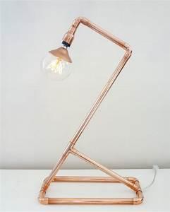 Lampe De Bureau Cuivre : une lampe de bureau en cuivre diy shake my blog ~ Teatrodelosmanantiales.com Idées de Décoration