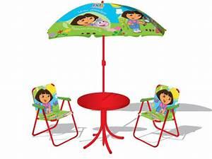 Salon De Jardin Pour Enfant : mobilier d 39 enfants salon de jardin dora l 39 exploratrice 27288 ~ Teatrodelosmanantiales.com Idées de Décoration