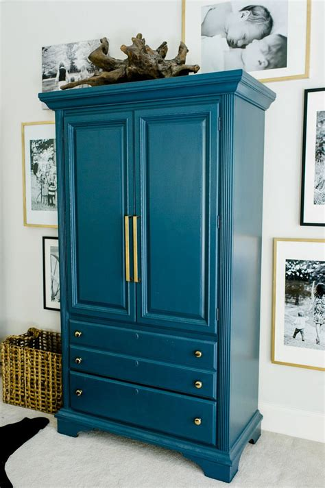 Painted Armoire Furniture Best 25 Teal Painted Furniture Ideas On