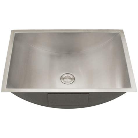 Modern Stainless Steel Bathroom Sinks by Ticor S730 Undermount Stainless Steel Bathroom Sink