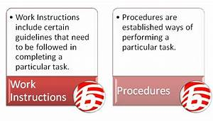 Difference Between Procedure And Work Instruction