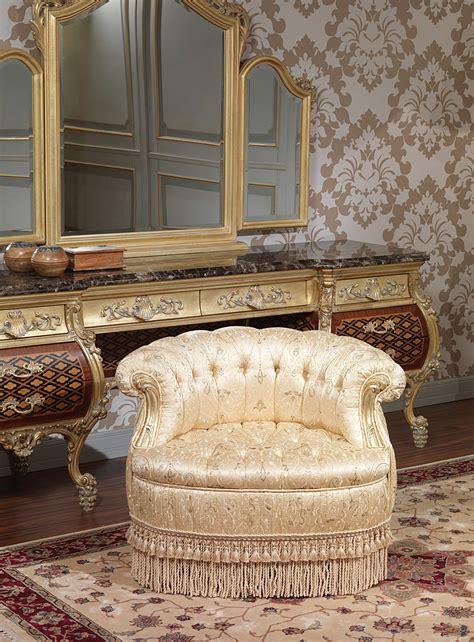 luxury bedroom armchair art  vimercati classic