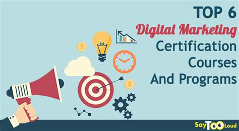best digital marketing certification programs best digital marketing certification programs top 6 courses