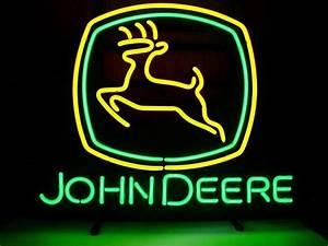 John Deere Light Bar For Sale New John Deere Glass Neon Sign Light Bar Pub Sign