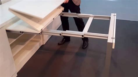 Kitchen pull out table   YouTube