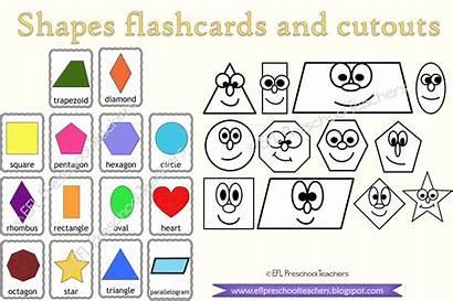 Shapes Teachers Esl Preschool Efl Teacherspayteachers Link