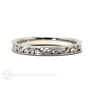 deco wedding band filigree wedding band deco inspired earth jewelry