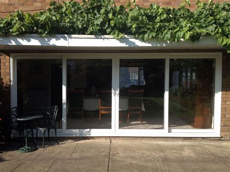 white upvc 4 pane sliding patio doors 3250mm wide ebay