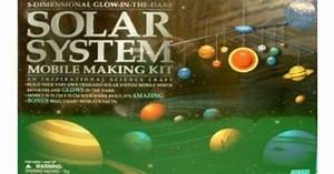 3-D Glow-in the-Dark Solar System Mobile Making Kit ...