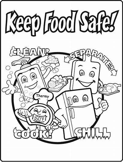 Safety Coloring Pages Safe Keep Worksheets Printable